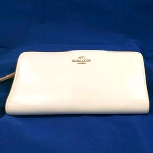 Vintage Coach Wallet White Leather